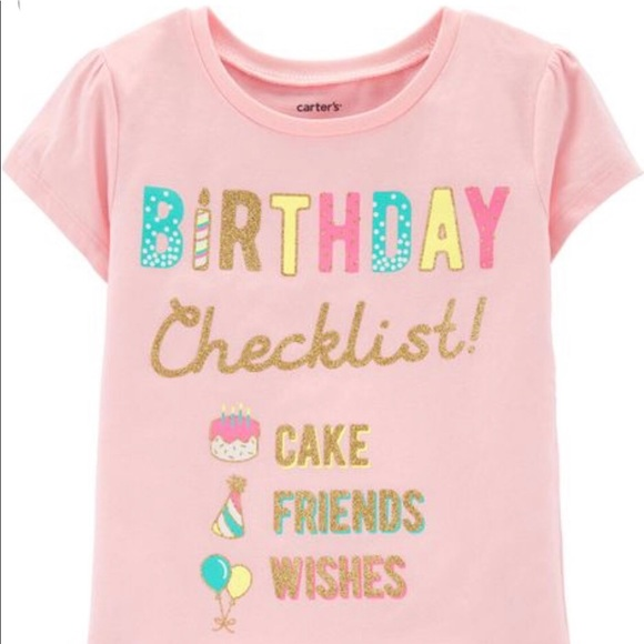 Carter/'s Infant Toddler Girls 1st Birthday Turtle T-shirt  Size 12M or 18M NWT